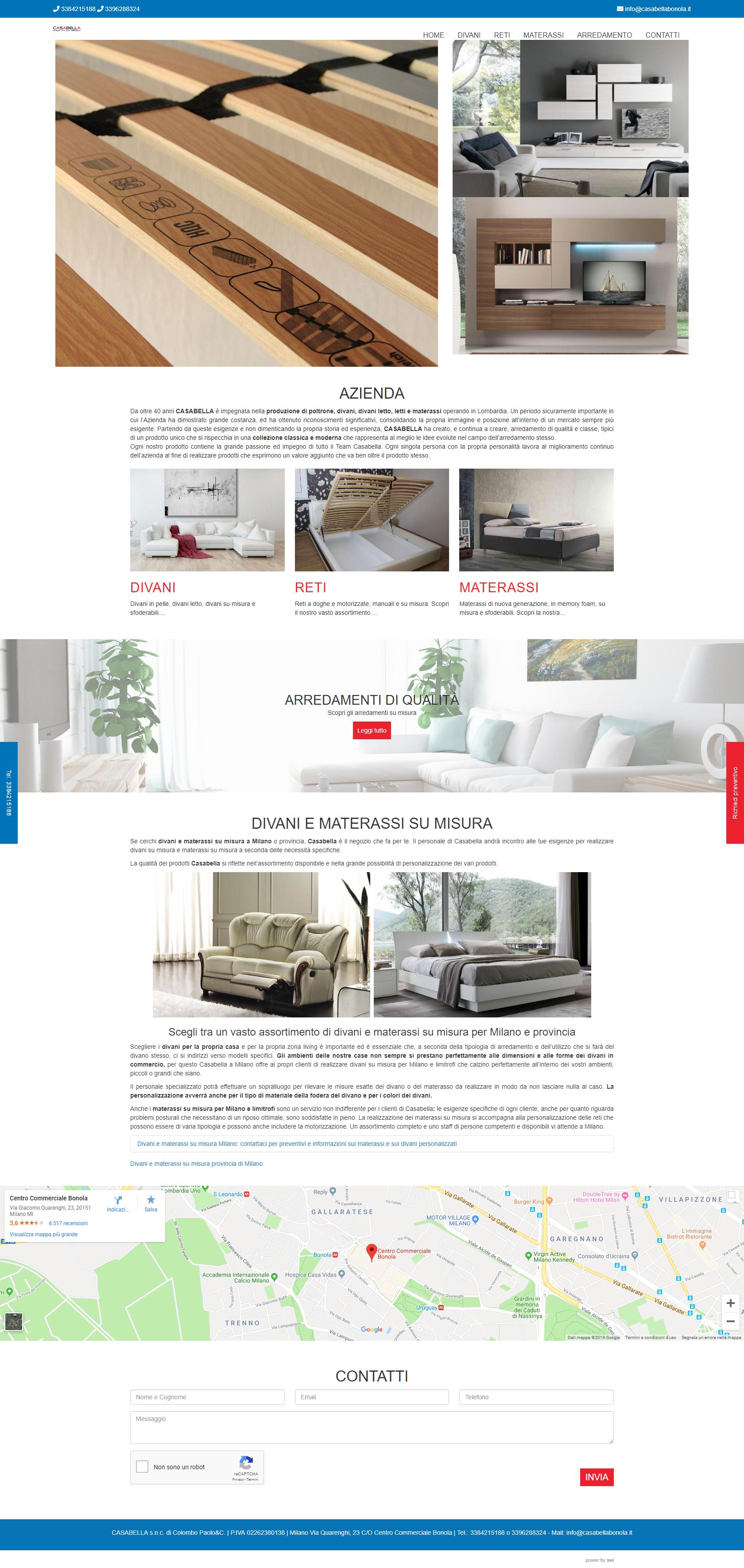 Divani Su Misura Milano casabella - arredamenti di qualità - divani e materassi su