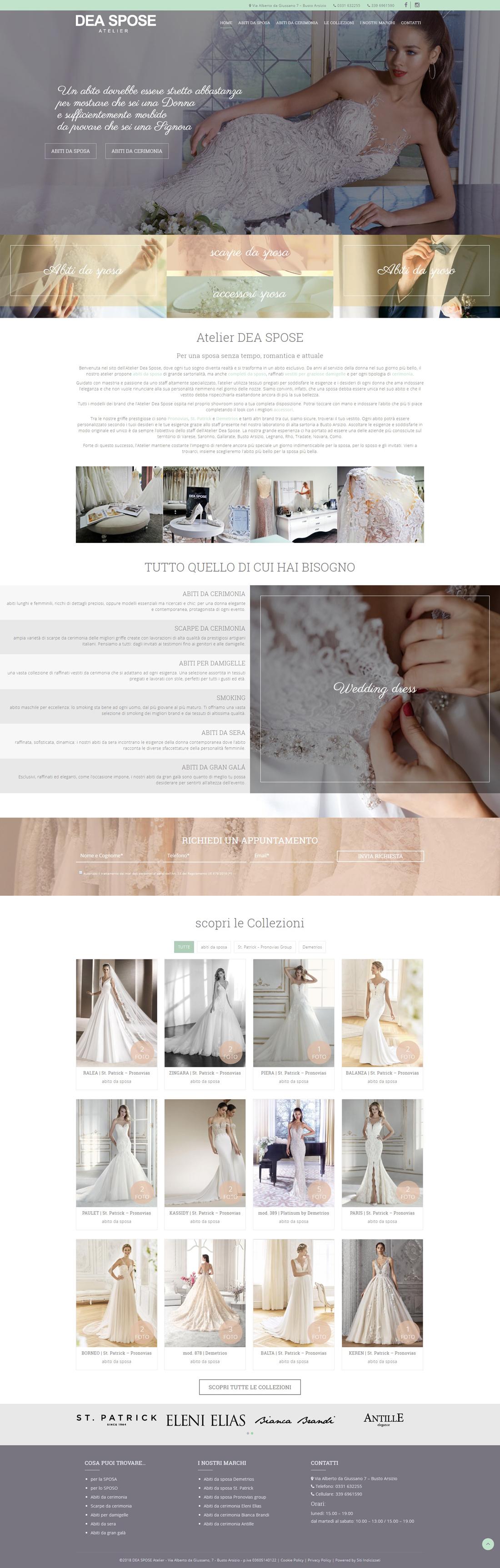 c04d08ec6d Dea Spose - Atelier Abiti da sposa